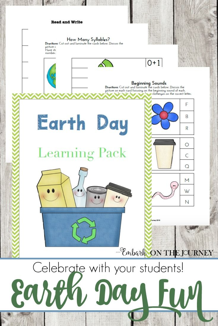 107 best earth day images on pinterest earth day activities earth day printable pack for k 3 robcynllc Images