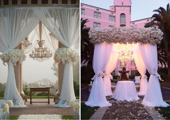 Wedding Ceremony Draped Arch Decorations | Ceremony Set-ups Mind-Blowing Ceremony Decor Mind-Blowing Aisle Decor ...