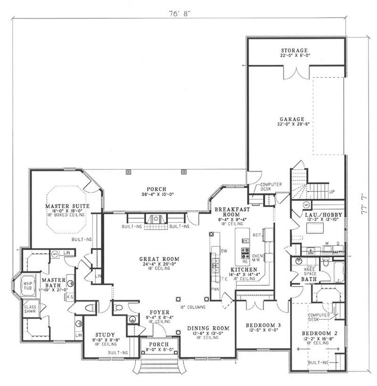 54 best craftsman home plans images on pinterest L shaped craftsman home plans
