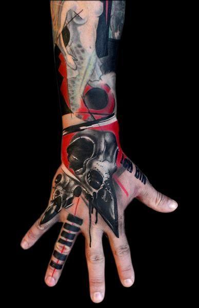 """realistic trash polka"" tattoo by Volko Merschky / Buena Vista Tattoo Club - Würzburg/Germany"