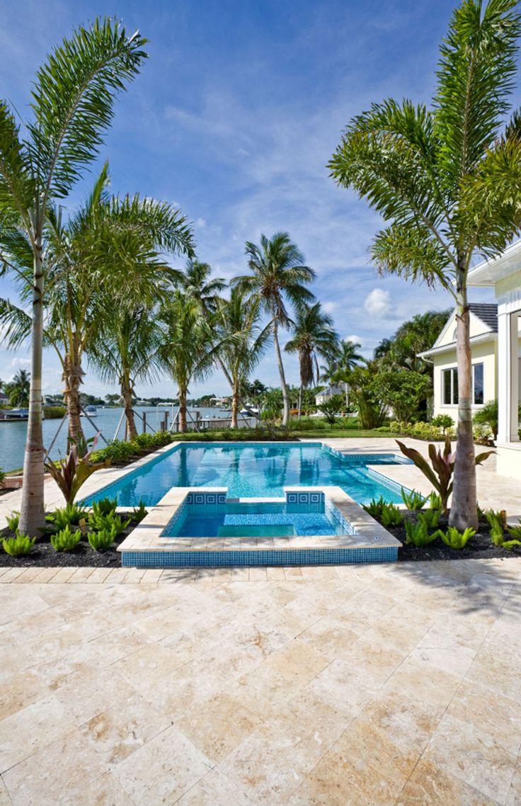 8 best stone pool decks images on pinterest backyard designs