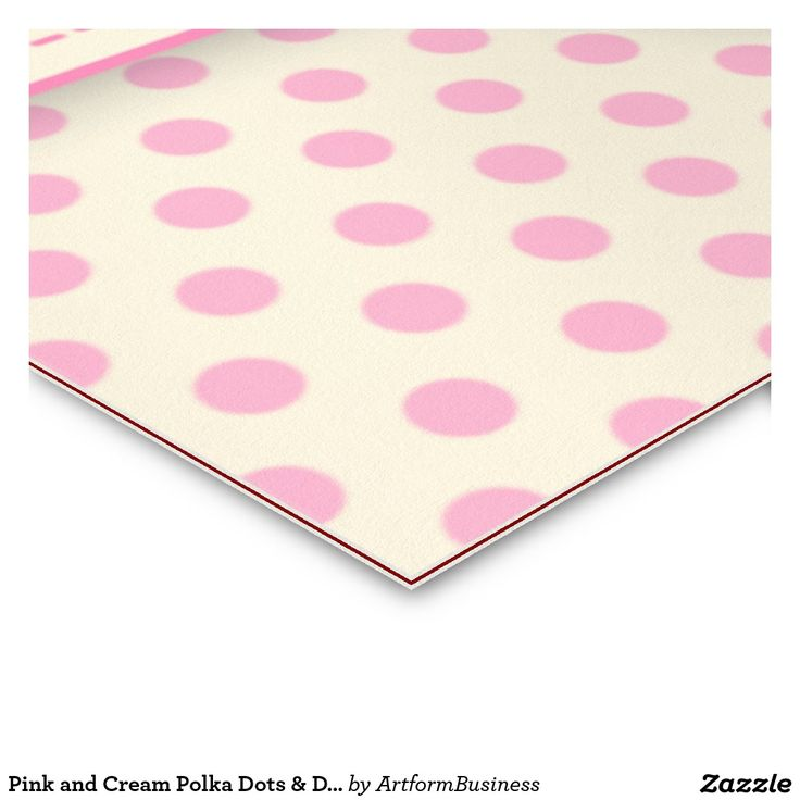 Pink and Cream Polka Dots & Damask Business Cards