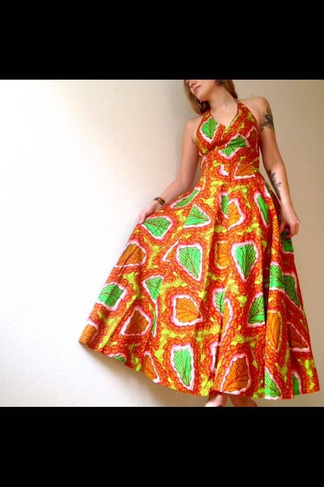 Long dress in African print