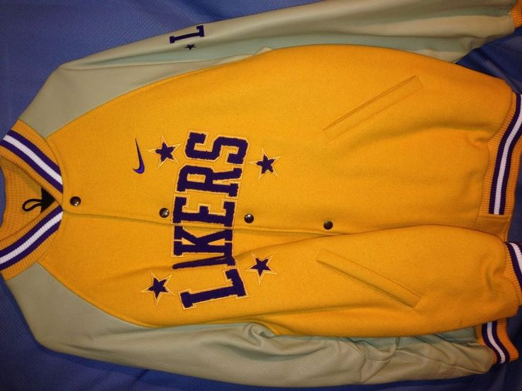 Authentic Nike Wool / Leather  Letterman Los Angeles Lakers Jacket Sz: L from $140.0
