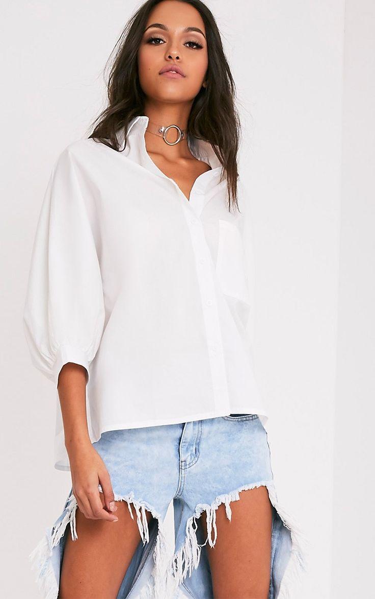 Ariane Cream Batwing Shirt Image 1