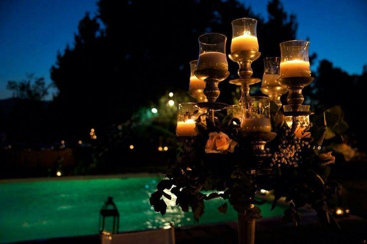 Beautiful chandeliers were the tables' centerpieces! #weddings #greekweddings #elegant #elegant decoration #chandelier #classy #dreamsinstyle