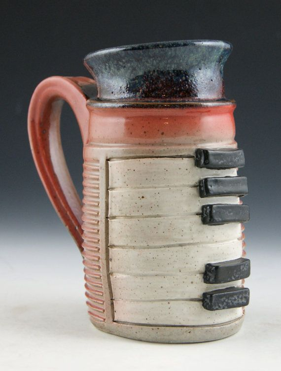 Piano Mugs Muted Burnt Orange 16oz by ChenowethARTS on Etsy. The initial listing for this item included 3 pieces. I can't guarantee that they will still be available when you get there...but I can always make MORE!
