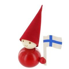 Cutest lil' Christmas decoration and holding the Finnish flag!