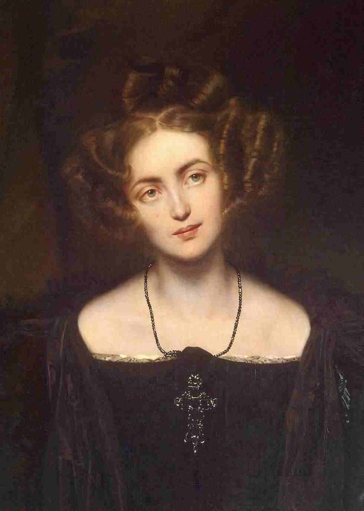 "Paul Delaroche: ""Portrait of Henriette Sontag"", 	1831, oil on canvas, 	The State Hermitage Museum - St Petersburg  (Russian Federation - St. Petersburg."