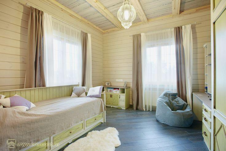 Спальня детская для  мальчика, 1-й этаж. Дом в стиле прованс
