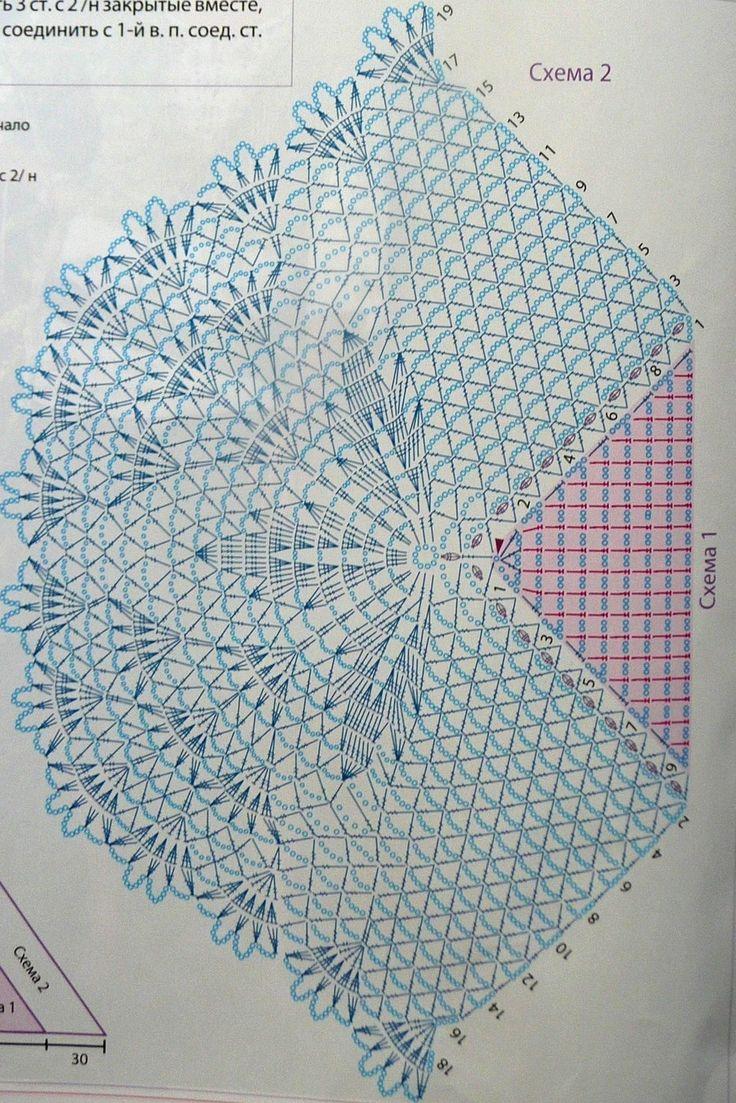 Кружевная шаль - Описание вязания, схемы вязания крючком и спицами | Узорчик.ру