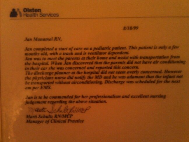 Olsten Health Services Commendation Letter  My Awards