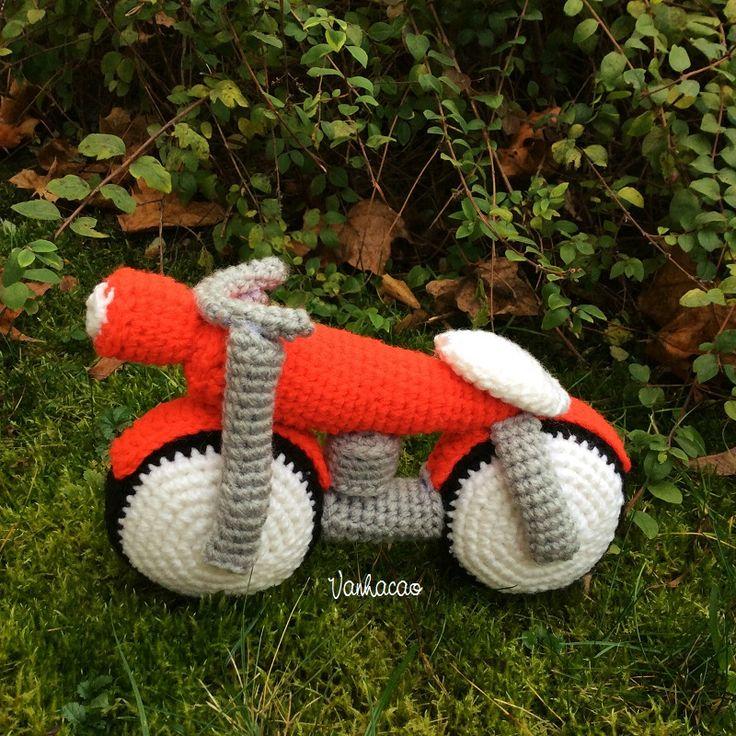 Motorcycle - Handmade Amigurumi Crochet Motorbike Home Decor Christmas Holiday Gift Children Baby Shower Gift