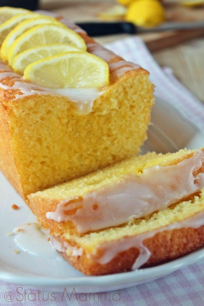 Plumcake glassato al limone | Status mamma