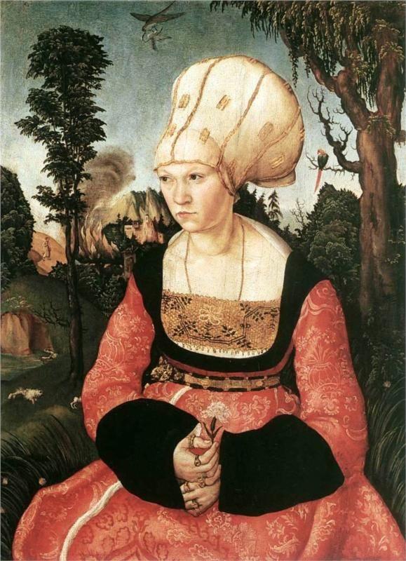 Anna Cuspinian, 1502 -Lucas Cranach the Elder - by style - Northern Renaissance www.artexperiencenyc.com