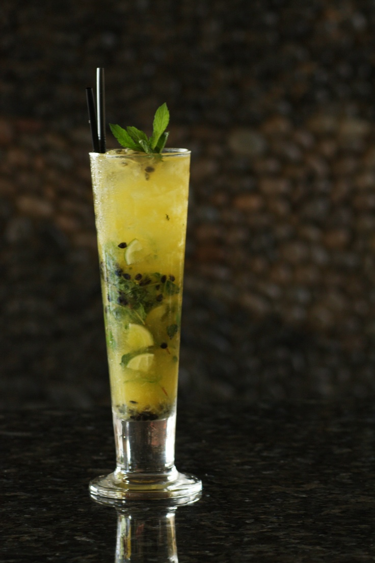 Passion fruits and Vanilla Mojito #drink #cocktail #mocktail #cold #enjoy #bali #kuta #tuban #indonesia