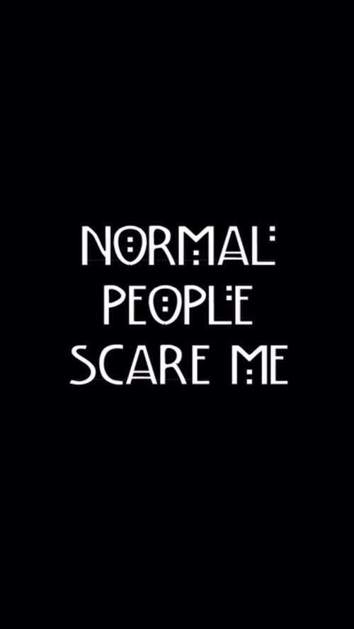 Image via We Heart It #black #Darkness #ahs #normalpeoplescareme
