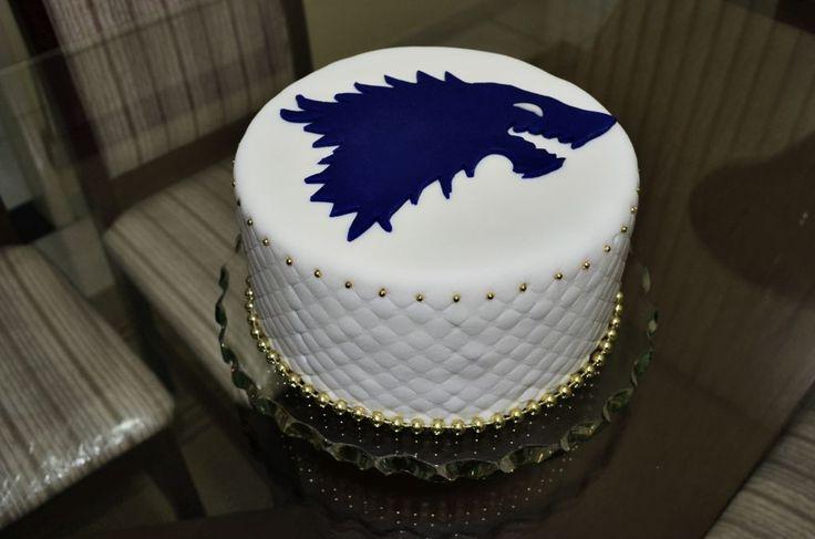 A House Stark cake #agameofthrones