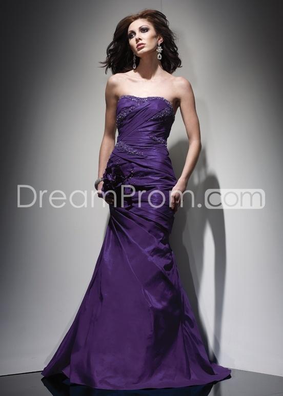 Luxurious Trumpet Strapless Floor-length Evening/Prom Dresses