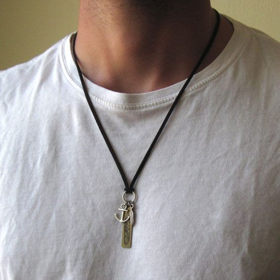 mens charm necklace , Mens Feather Necklace , Mens Leather Necklace , Mens Anchor Necklace , mens jewelry , jewelry gifts , mens charms  #MensCharmNecklace #GiftForMen #MensJewelry #GiftForHim #BoyfriendGift #JewelryForMen #GuysNecklace #MensNecklace #NecklacesForMen #MensAccessories