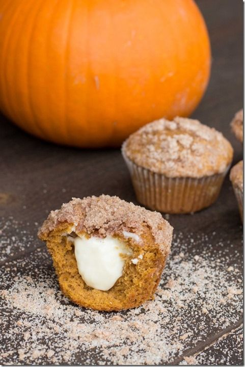 Pumpkin Cream Cheese Muffins | food and recipes | Pinterest