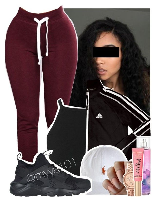 """Untitled #1119"" by myya101 on Polyvore featuring adidas, NIKE, FOSSIL and Too Faced Cosmetics"