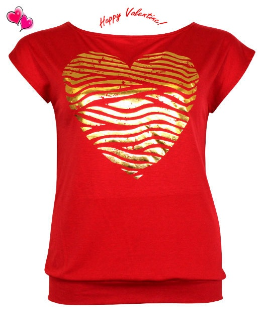 Valentine's Gold Heart Top Plus Size 1X,2X,3X  $10.00  Click Here: http://www.jasmineusaclothing.com