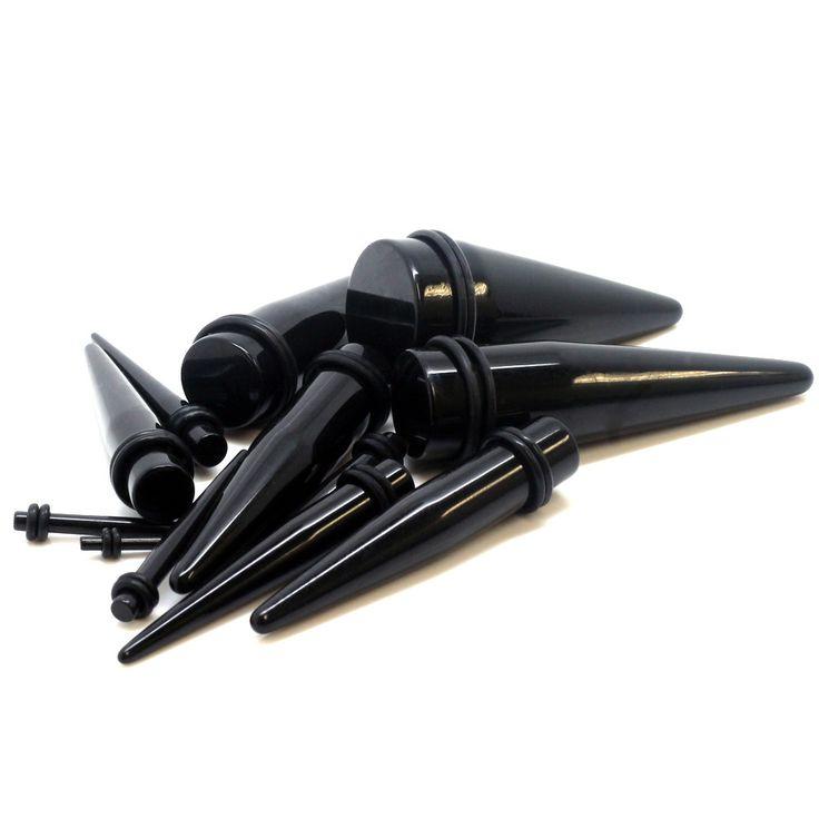 Black Acrylic Ear Taper
