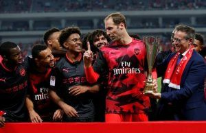 Why Cech ordered Arsenal players not to celebrate winning ICC trophy