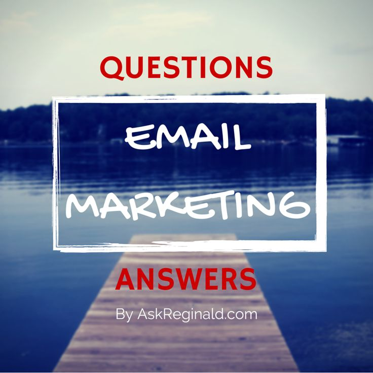 10 questions (and answers) you need to know before starting an email marketing strategy. Read more here: http://askreginald.com/starting-email-marketing-questions/ #emailmarketing #marketing #business