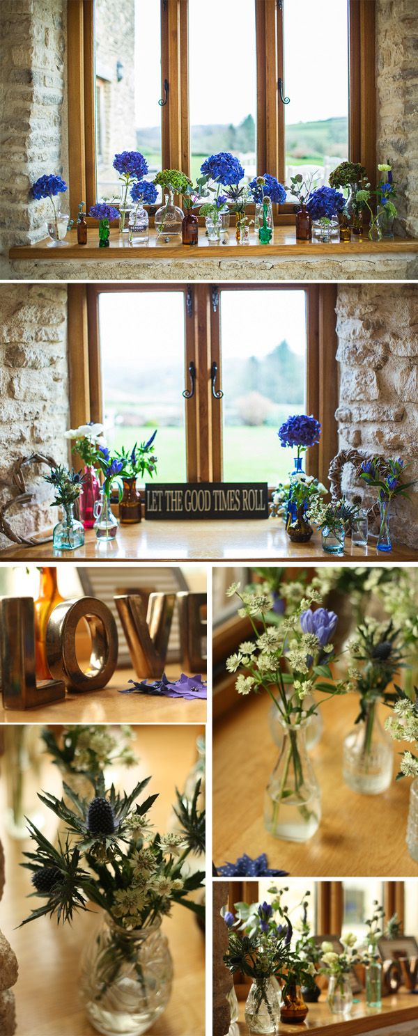 Natural Rustic Wedding Flowers At Kingscote Barn The Cotswolds