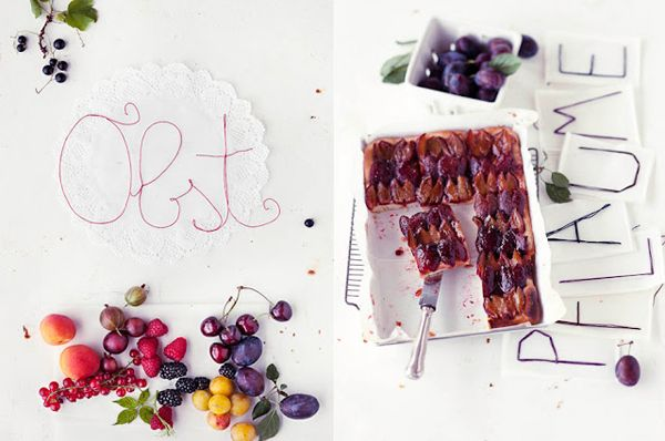 Stitched typography + food