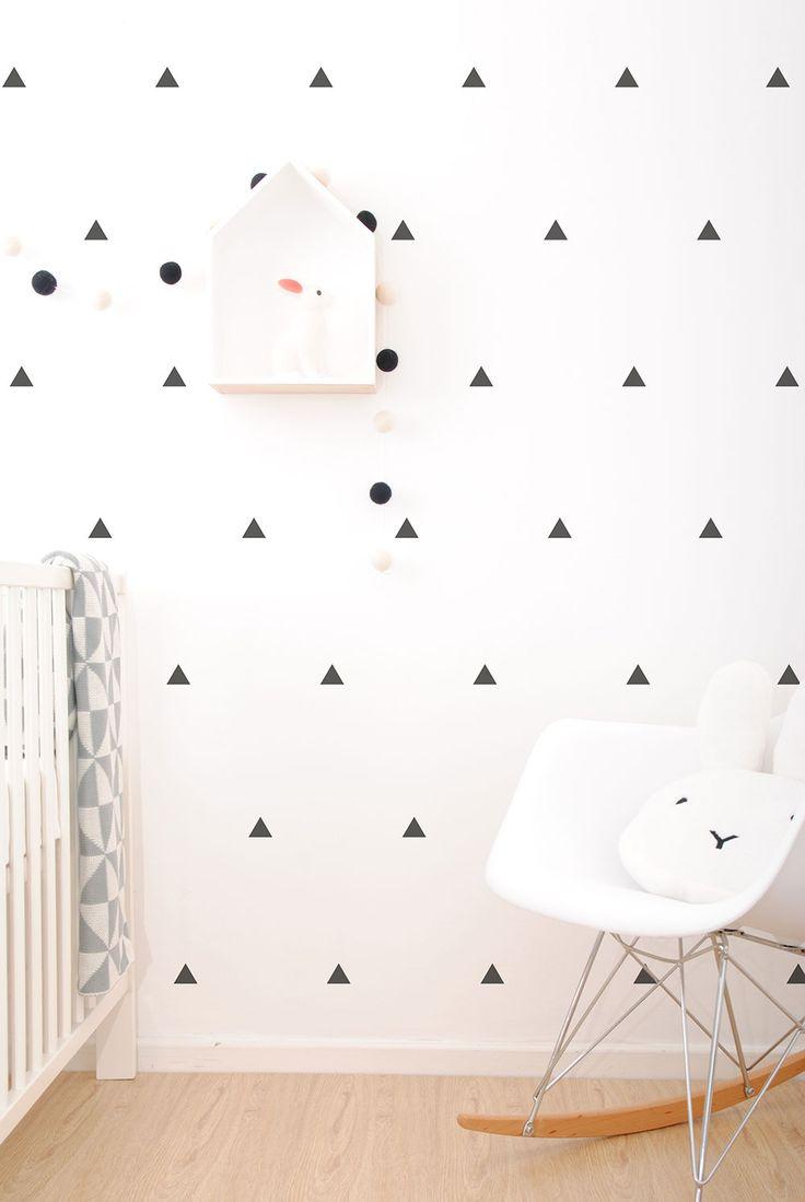 Black Triangle wall stickers www.simplychild.co.za
