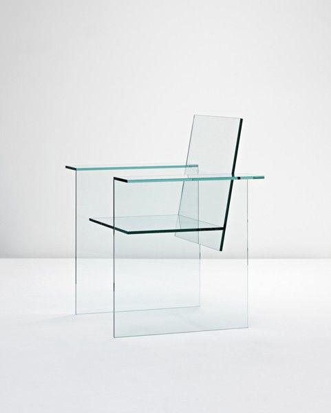 1976 GLASS CHAIR SHIRO KURAMATA