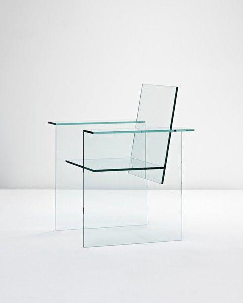 Shiro Kuramata, glass chair, 1976