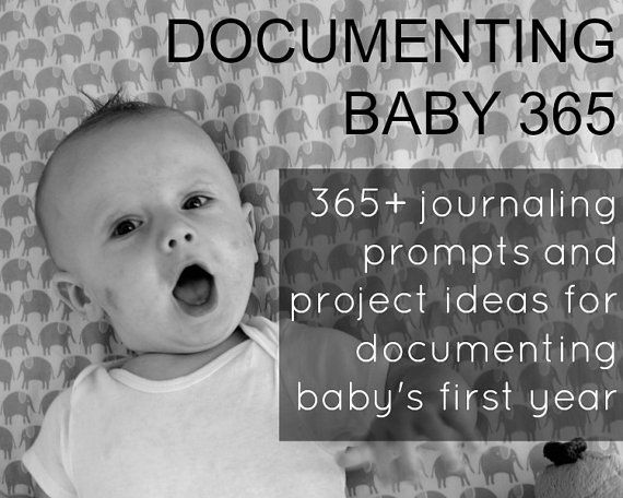 365+ Journaling Prompts and Project Ideas for Pregnancy and Baby's First Year by graceandlight, $5.00