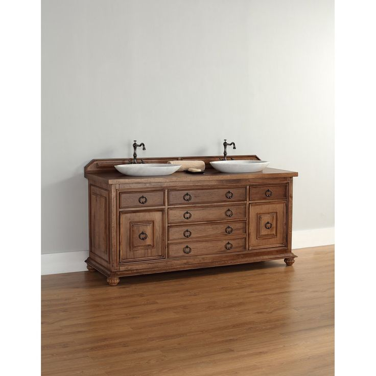 Buy The James Martin Furniture Mykonos 72 Double Vanity In Cinnamon With  Wood Top   Vanity Top Included From Homeclick At The Discount. From Modern  Bathroom