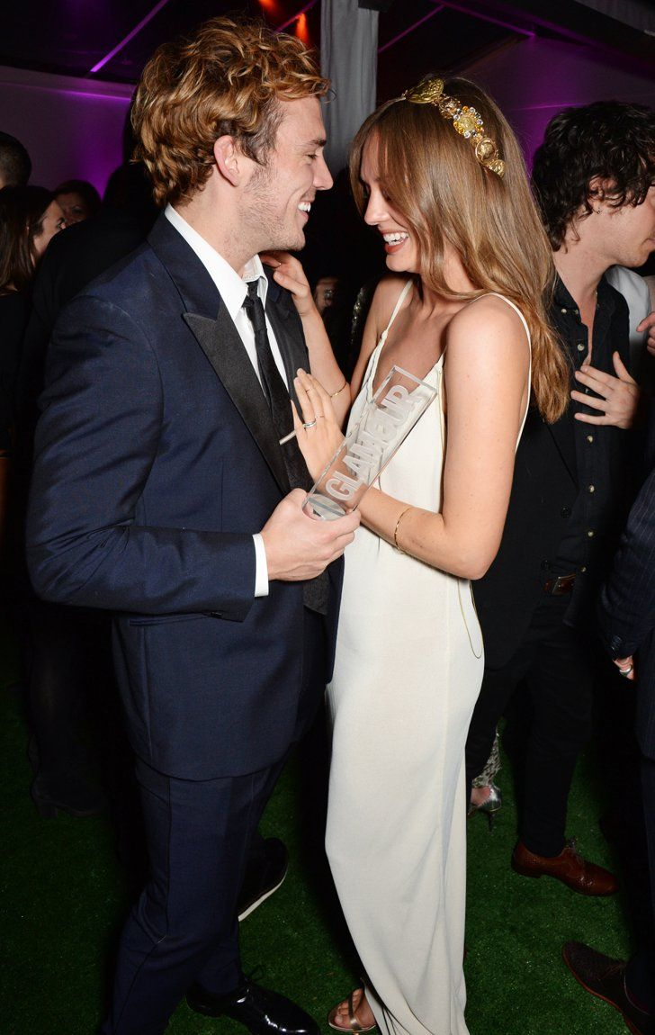 Pin for Later: Sam Claflin and Laura Haddock Are the Cutest Red Carpet Couple Ever When They Let Their Hair Down at the Glamour Awards Afterparty