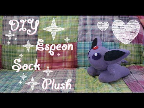 ❤  DIY Espeon Sock Plush! An easy tutorial on how to make your own Pokem...