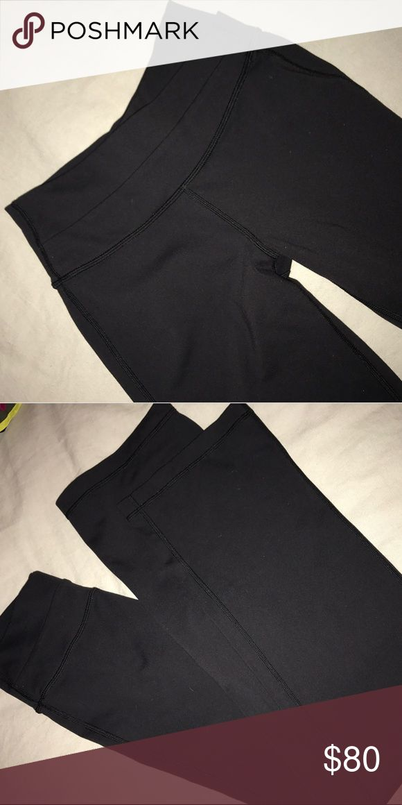Lulu bootcut leggings Plain black bootcut Lulu's- size 2. Barely worn. lululemon athletica Pants Leggings