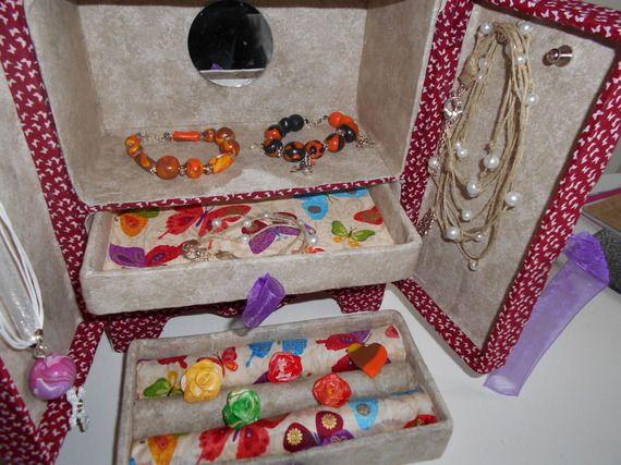 Armoire à bijoux aux motifs de papillons