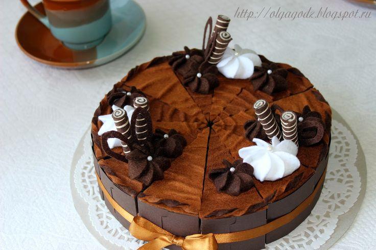 Любовь к творчеству: Бумажный торт и фетровые сладости
