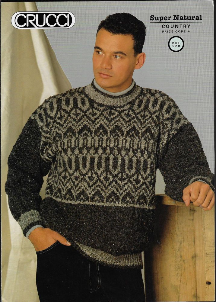 d9320144a24a07 Men s Fairisle Sweater Crucci 520 knitting pattern chunky yarn  Crucci