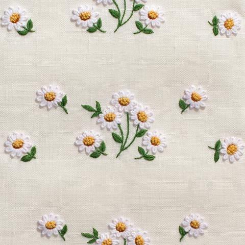 Daisies ScatterHand Towel - Ivory Linen – Henry Handwork