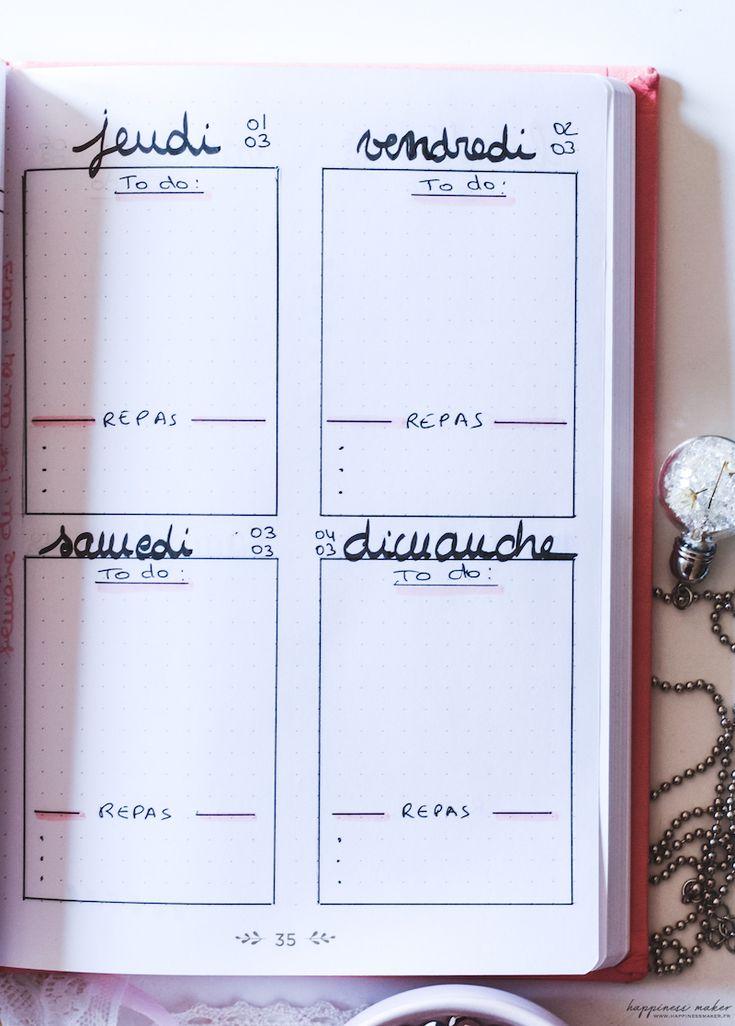 Idées de pages faciles pour Bullet Journal