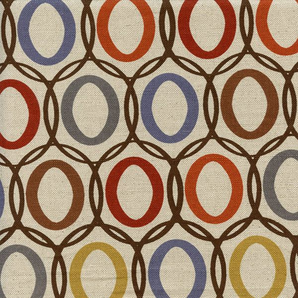 Vera Harvest Brown Orange Natural Contemporary Drapery Fabric - SW46910 - Fabric By The Yard At Discount Prices