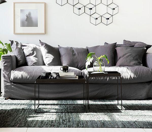 Hitta hem - Melimeli sofa, Hay tray table & Menu POV lysestager