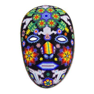 Novica Huichol Papier Mache Peyote Mask Wall Décor