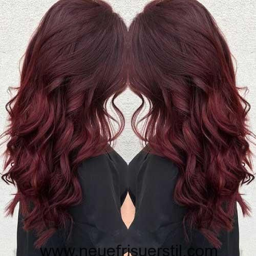 Am besten Lange Dunkle Rote Haare Idee