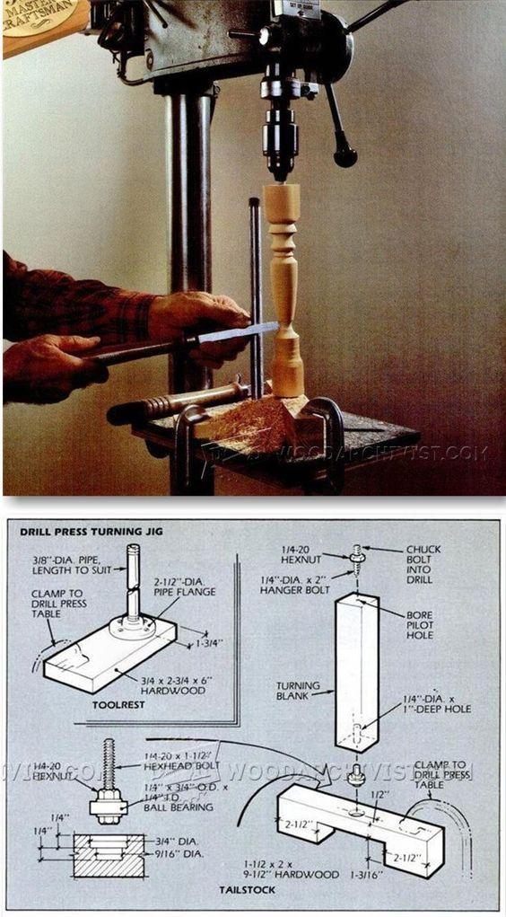 DIY Drill Press Lathe - Lathe Tips, Jigs and Fixtures | WoodArchivist.com